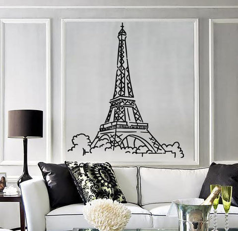 Vinyl Decal Eiffel Tower Paris France Champs Elysees Wall Sticker Unique  Gift (n488)
