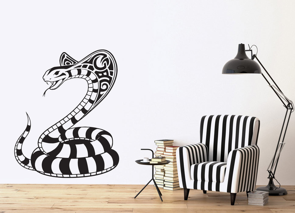 Vinyl Decal Cobra Snake Reptile Venomous Dangerous Wall Stickers Unique Gift (n498)