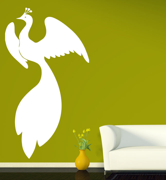 Vinyl Decal gorgeous fairy bird bushy tail wingspan  Wall Sticker Unique Gift (n505)