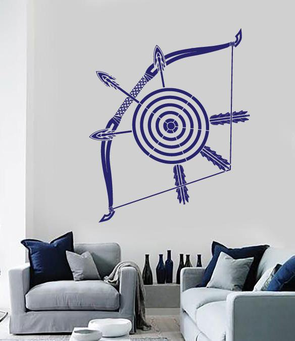 Vinyl Decal Crossbow Darts Target Arrows Bow Wall Sticker For Living Room  Unique Gift (n511