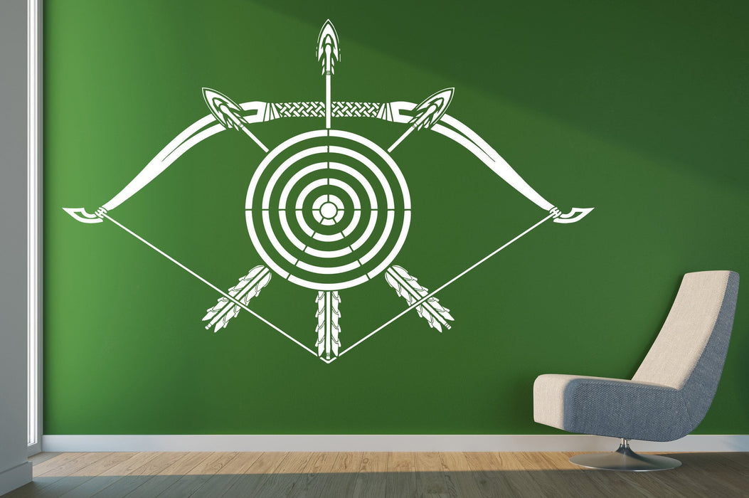 Vinyl Decal crossbow darts target arrows bow Wall Sticker for living room Unique Gift (n511)