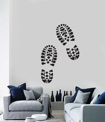 Large Wall Sticker Vinyl Decal Traces Male Brutal Boot Soles Unique Gift (n520)