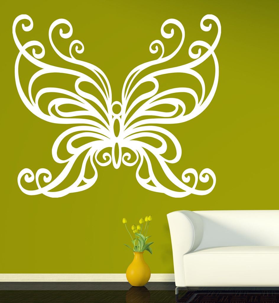 Wall Vinyl Sticker Mural Big Butterfly Wings Chic Home Decor Unique ...