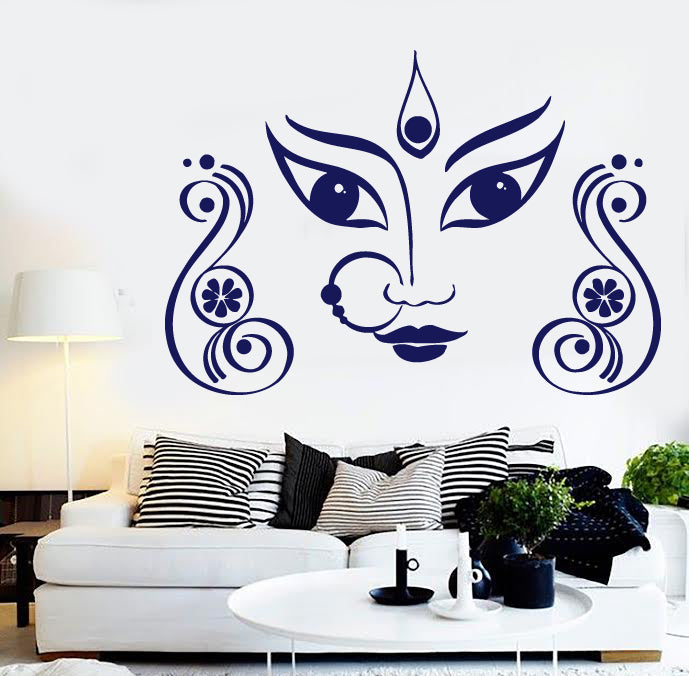 Vinyl Decal Wall Sticker Eyes Eastern Woman Decoration Expressive Nose (n557)