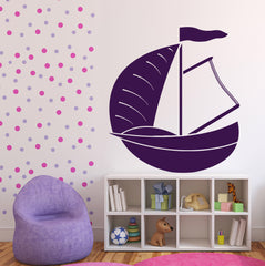 Large Vinyl Decal Dinghy Sailing Boat Yacht Water Sports Wall Sticker (n566)