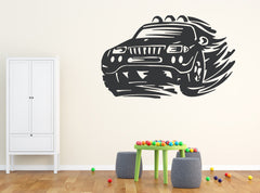 Large Vinyl Decal Wall Sticker Supercar Off-Road Car Wheel Headlights Decor (n567)