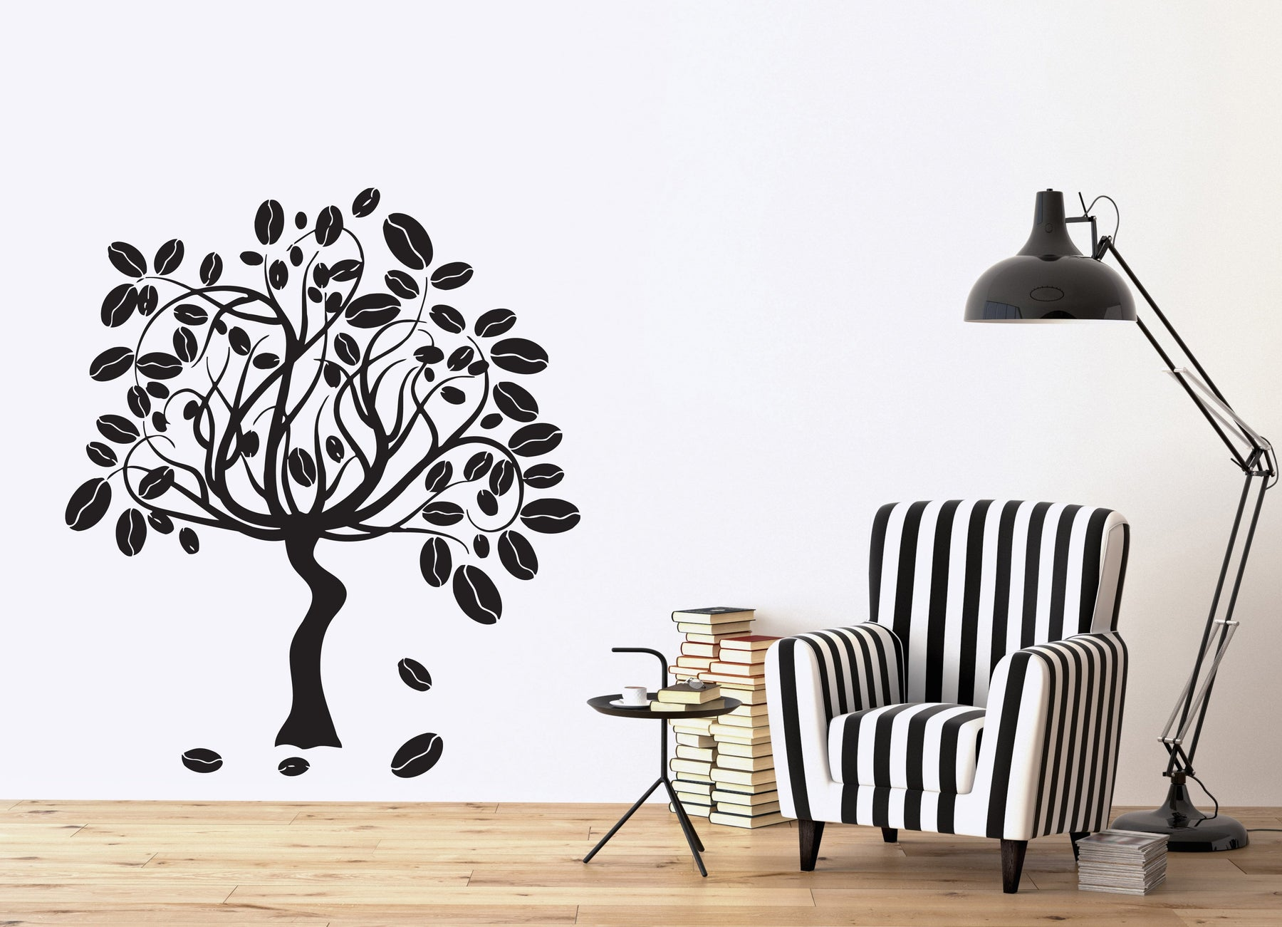 Vinyl Decal Coffee Tree Fruit Ripe Smell the Aroma Wall Sticker Coffee Bar Decor (n595)