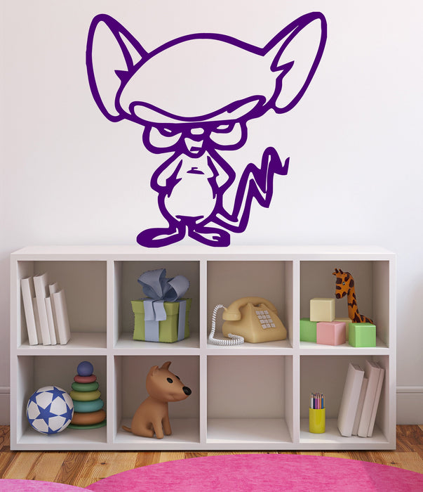 Vinyl Decal Cartoon Character Mouse Jerry Got Angry Large Wall Sticker (n620)