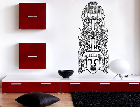 Lagre Vinyl Wall Sticker North American Aztec Totem Poles Unique Gift (n723)