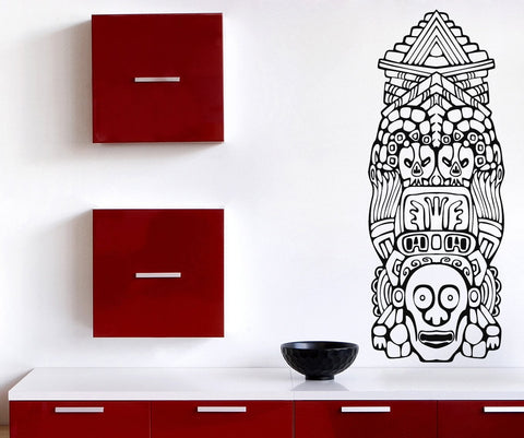 Lagre Vinyl Wall Sticker North American Totem Poles (n724)