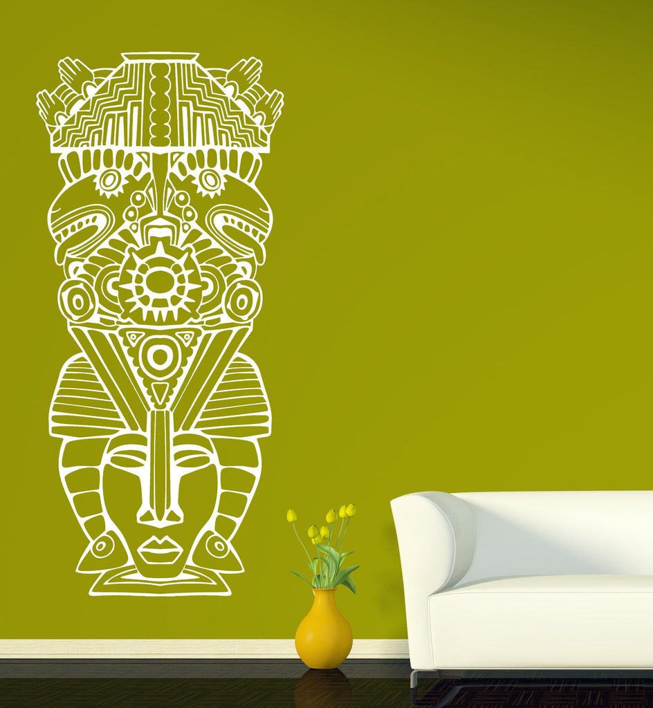 Large Vinyl Wall Sticker Aztec Totem Poles North American resident Uni –  Wallstickers4you 4b1a6aa05bb1