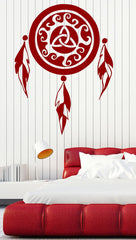 Vinyl Decal Wall Sticker Dreamcatcher Amulet Indian Mascot Good Nigh Decor Unique Gift n746