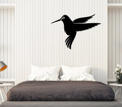 Vinyl Decal Wall Sticker Small Hummingbird Silhouette Flight Home Decor Unique Gift (n760)