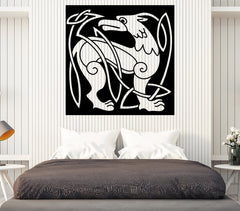 Vinyl Decal Wall Sticker Abstract Animal Dog Celtic Style Mural Art Unique Gift (n777)