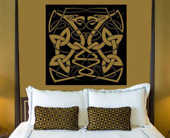 Large Vinyl Decal Wall Sticker Abstract Animal Snake Couple Celtic Style Image Art Unique Gift n780