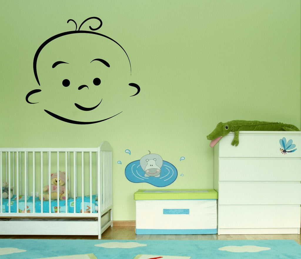 Vinyl Decal Wall Sticker Baby Cartoon Face Different Emotions Decor Unique Gift (n785)