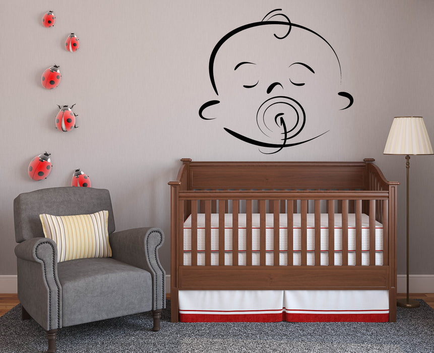 Vinyl Decal Wall Sticker Beauty Baby Cartoon Face Different Emotions Decor Unique Gift n786