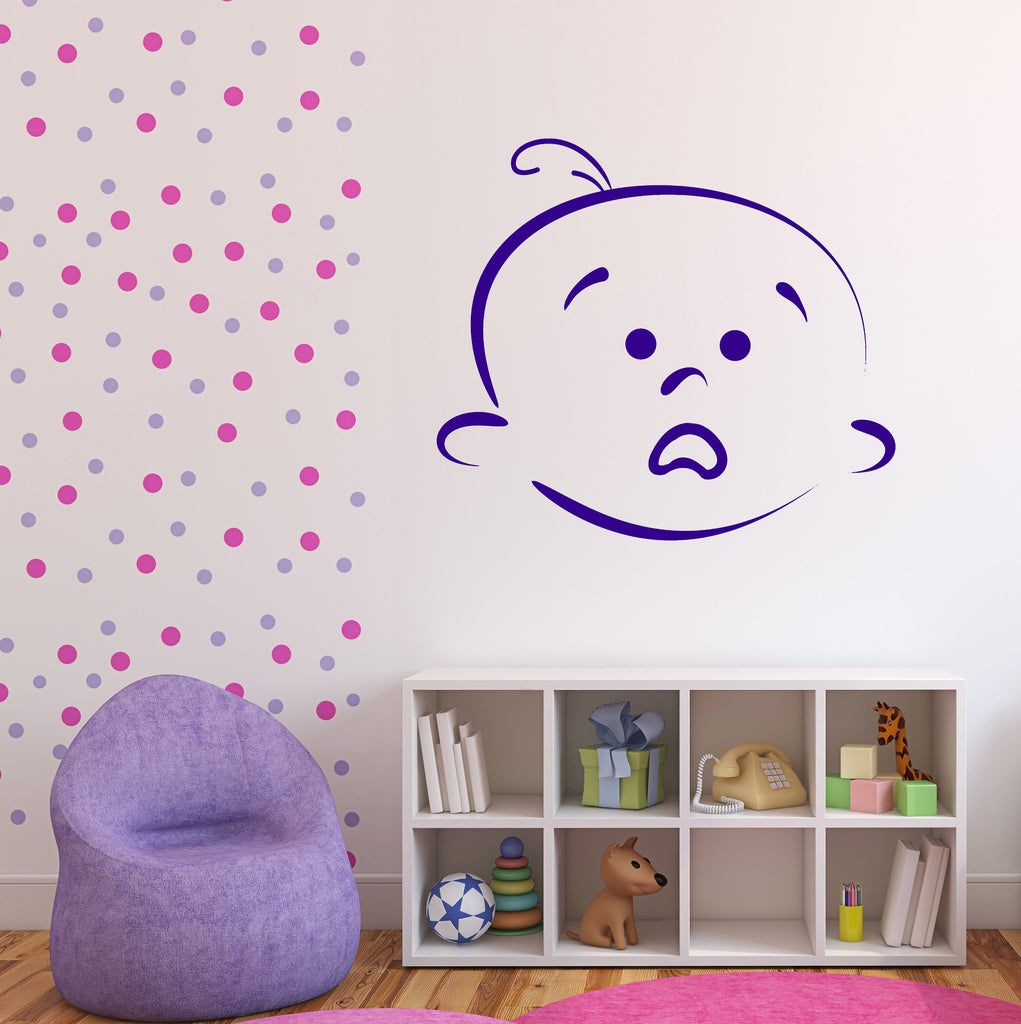 Vinyl Decal Wall Sticker Beauty Baby Cartoon Face Different Emotions Unique Gift (n792)