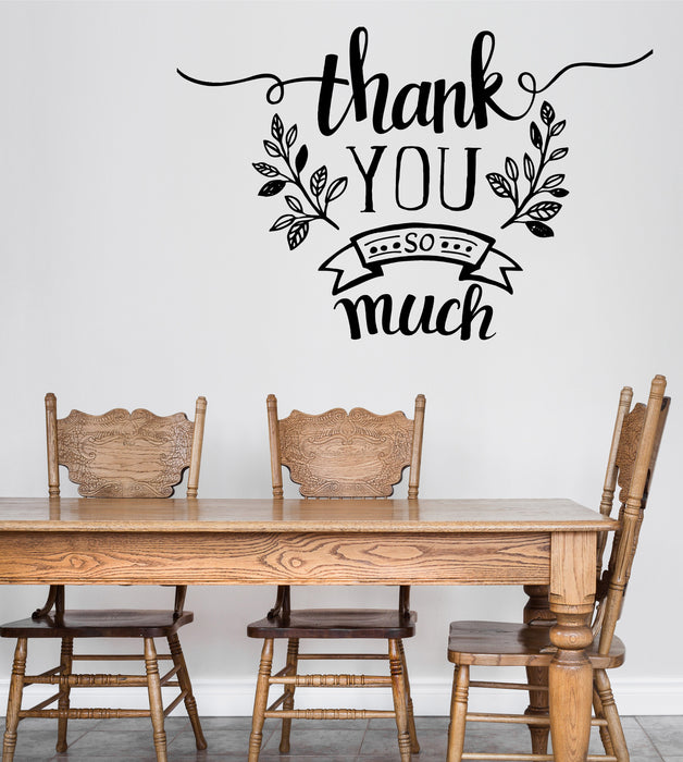 Vinyl Decal Wall Sticker Thank-Phrase Quotes Thank You So Mach Decor Unique Gift (n795)