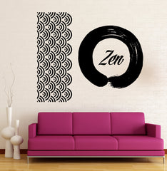 Vinyl Decal Wall Sticker Ornament Circle Zen Meditation Buddhism Decor Unique Gift (n800)