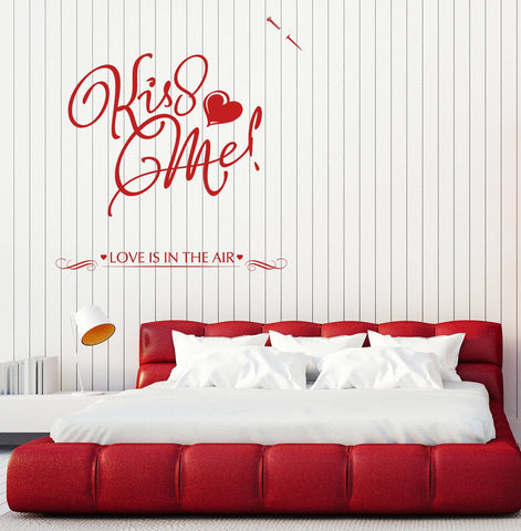 Large Vinyl Decal Wall Sticker Note Kiss Me Love Lettering Decor (n809)