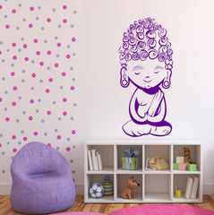 Vinyl Decal Wall Sticker Little Funny Curly Budda Kids Room Decoration Unique Gift (n818)