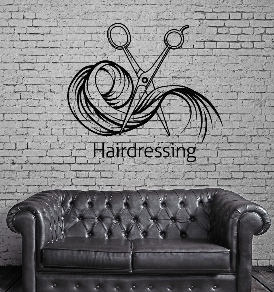 Large Wall Vinyl Decal Beauty Hair Salon Tools Decor Hairdressing (n836)