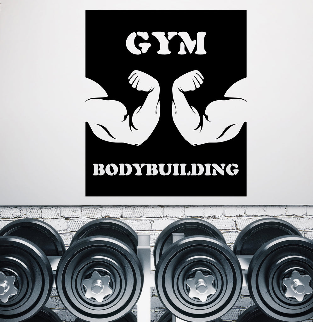 Large Vinyl Decal Wall Sticker Gym Bodybuilding Biceps Sport Emblem (n840)