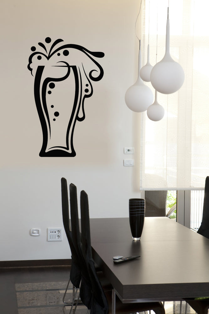 Vinyl Decal Wall Stickers Glasses Drinks Collection Beer Glass (n848)