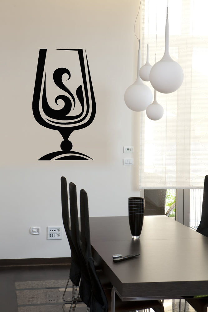 Large Vinyl Decal Wall Sticker Glass Drinks Collection Cognac Wine-Glass Decor (n850)