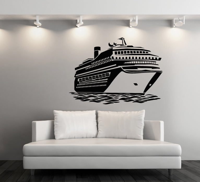 Large Vinyl Decal Wall Sticker Big Ocean Cruise Liner Sea Voyages Decor (n860)