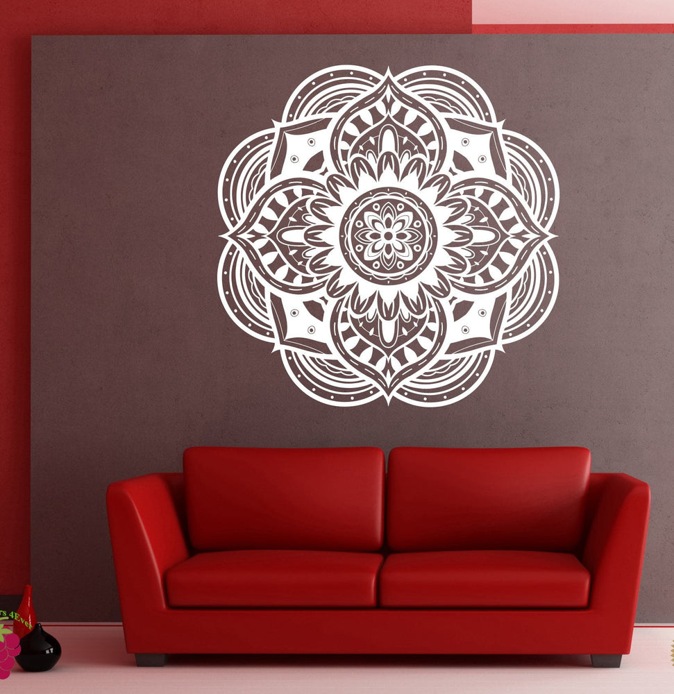 Large Vinyl Wall Decal Stickers Circle Ornament Mandala Meditation Decor (n861)
