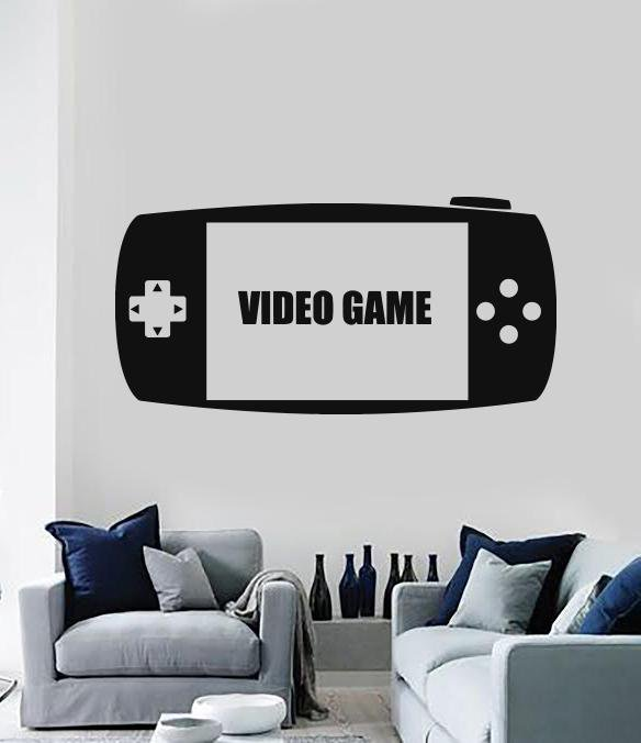 Vinyl Decal Wall Sticker Video Game Console Joystick Play Room Decor (n870)