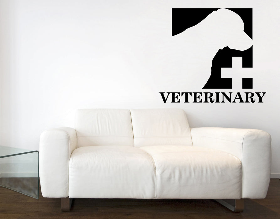 Large Vinyl Wall Decal Signboard Logo Veterinary Clinic Interior Decor (n871)