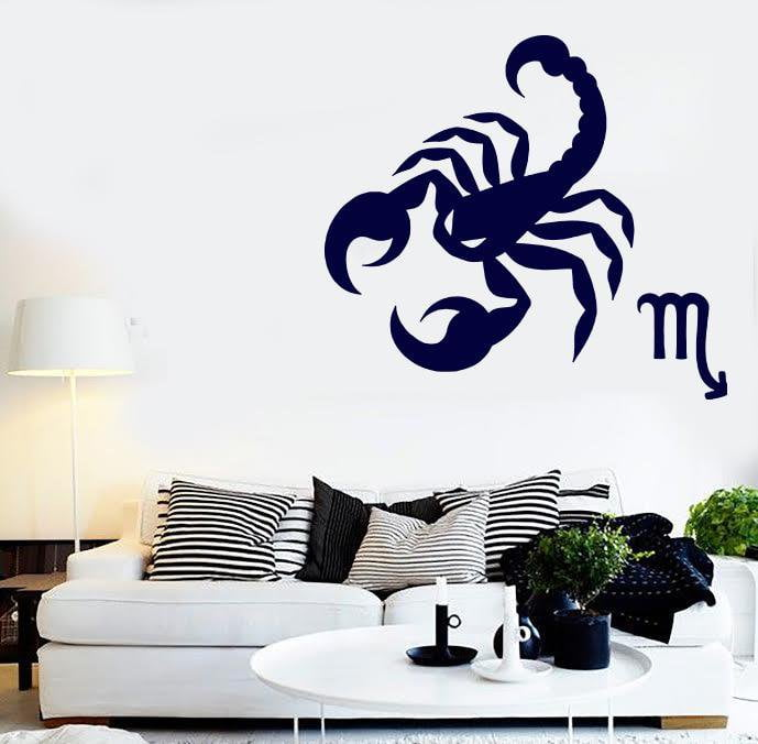 Vinyl Decal Wall Sticker Astrology Science Zodiac Sign Cancer Unique Gift (n905)