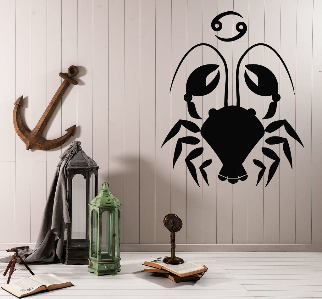 Vinyl Decal Wall Sticker Scorpio Symbol Zodiac Sign Horoscope Decor Unique Gift (n908)
