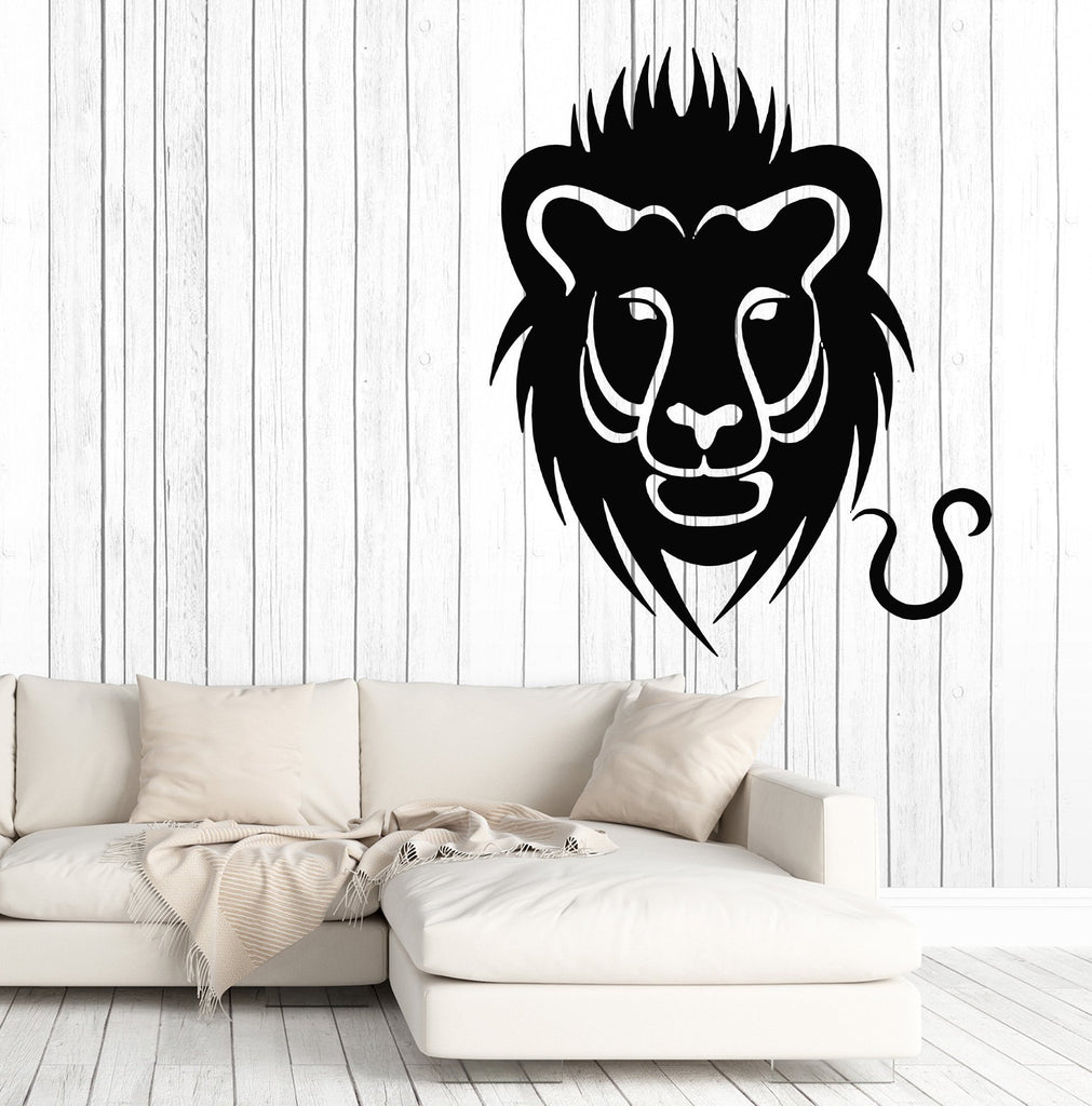 Vinyl Decal Wall Sticker Lion Symbol Zodiac Sign Horoscopes Unique Gift (n912)
