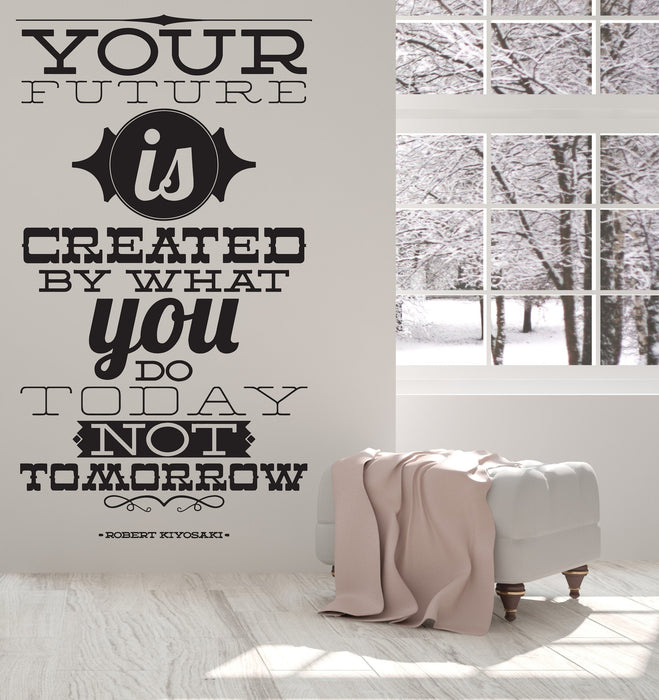 Vinyl Decal Wall Sticker Words Inspirational Phrase You Future Tomorrow Unique Gift (n917)