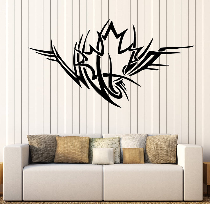 Large Vinyl Decal Ornament Maple Leaf Symbol Life Love Wall Sticker Decor Unique Gift (n937)
