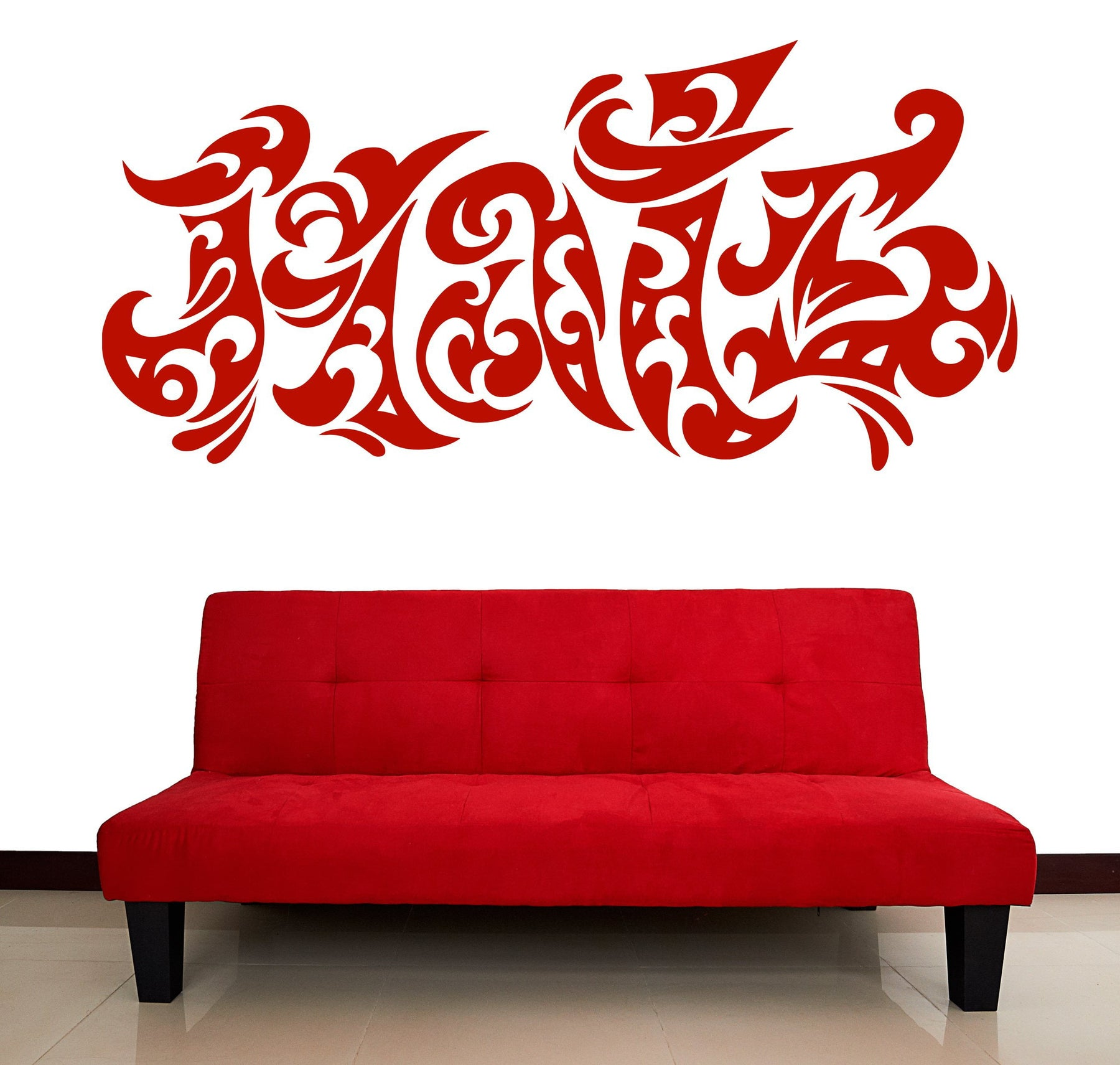 Large Vinyl Decal Wall Sticker Lettering Word Hate Tatoo Style (n963)