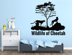Large Wall Sticker Vinyl Decal Wildlife Cheetah Animal Africa Children's Room Decor n988