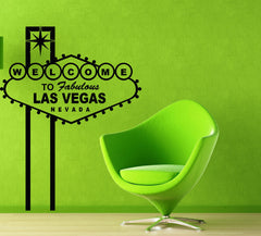 Large Vinyl Decal Wall Sticker Famous Singboard Welcome to Las Vegas (n996)