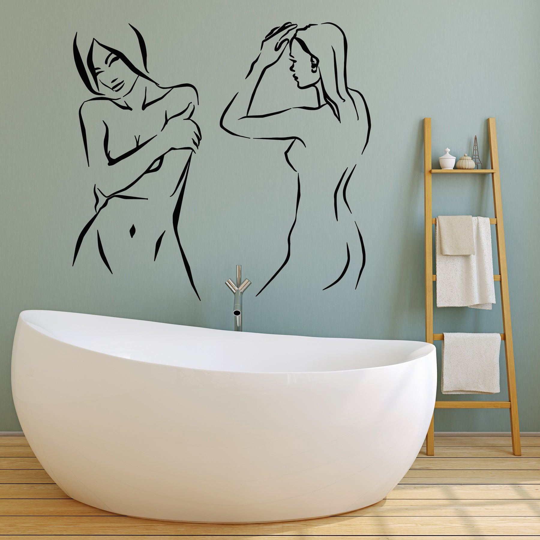 Naked girls indoor Vinyl Wall Decal Sexy Hot Naked Nude Girls No Clothes Adult Decor Stic Wallstickers4you