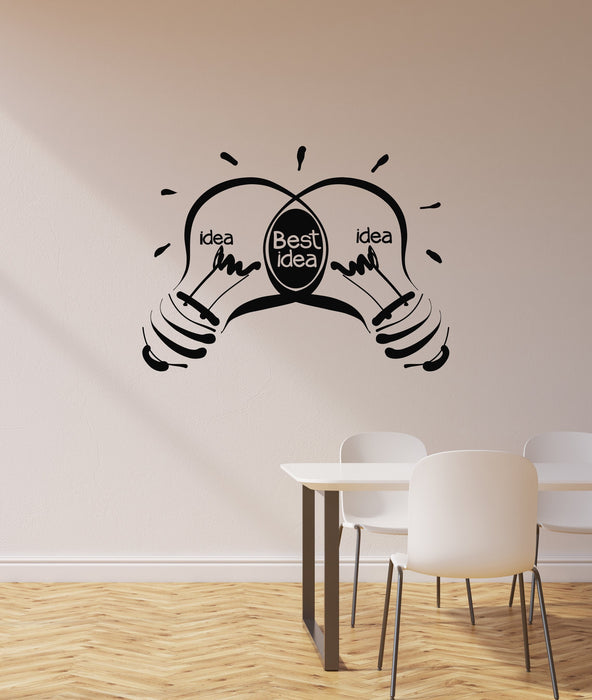 Vinyl Wall Decal Office Ideas Lightbulbs Business Inspirational Art  Interior Stickers Mural (ig5863)