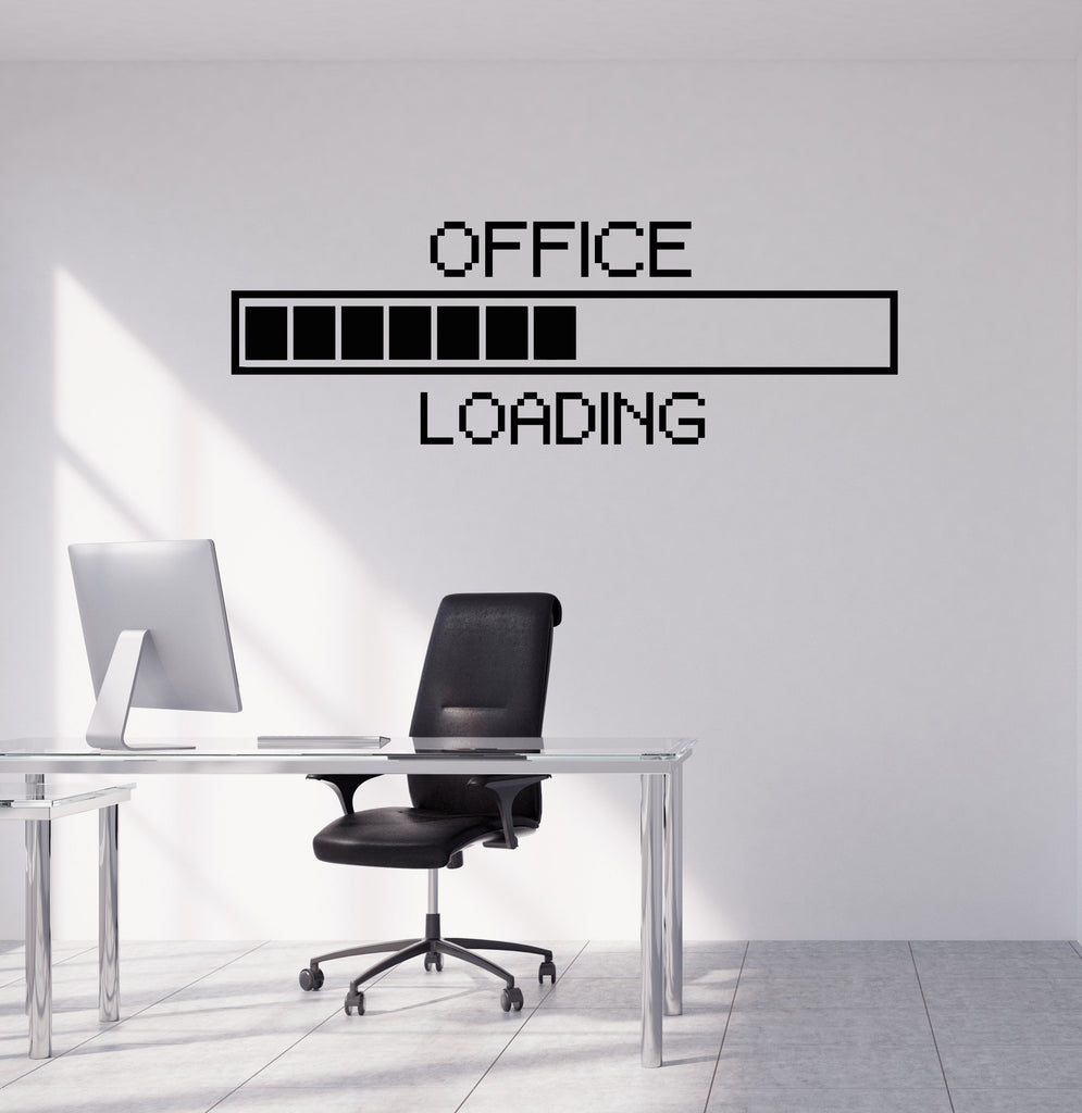 Charmant Vinyl Wall Decal Office Pixel Art Decor Study Working Space Stickers M U2014  Wallstickers4you