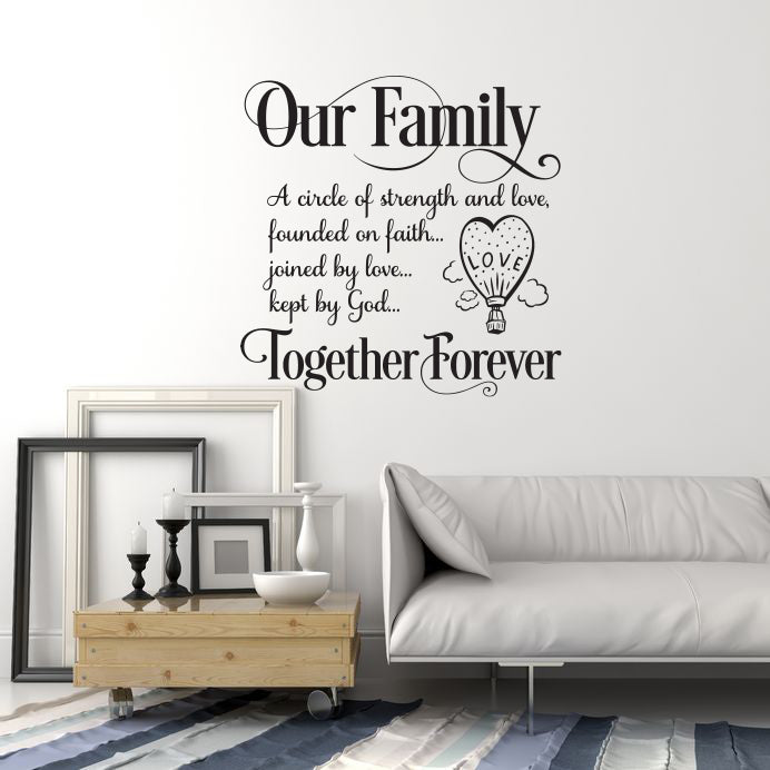 Vinyl Wall Decal Family Saying Inspirational Quote Home Room Decor Sti Wallstickers4you