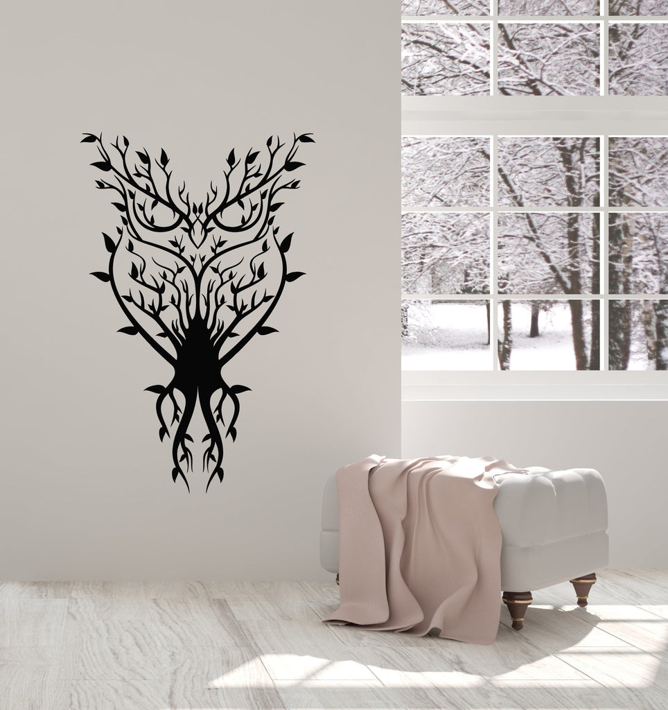 Vinyl Wall Decal Owl Bird Branches Nature Abstract Room Decoration Stickers Mural (ig5552)  sc 1 st  Wallstickers4you & Vinyl Wall Decal Owl Bird Branches Nature Abstract Room Decoration ...
