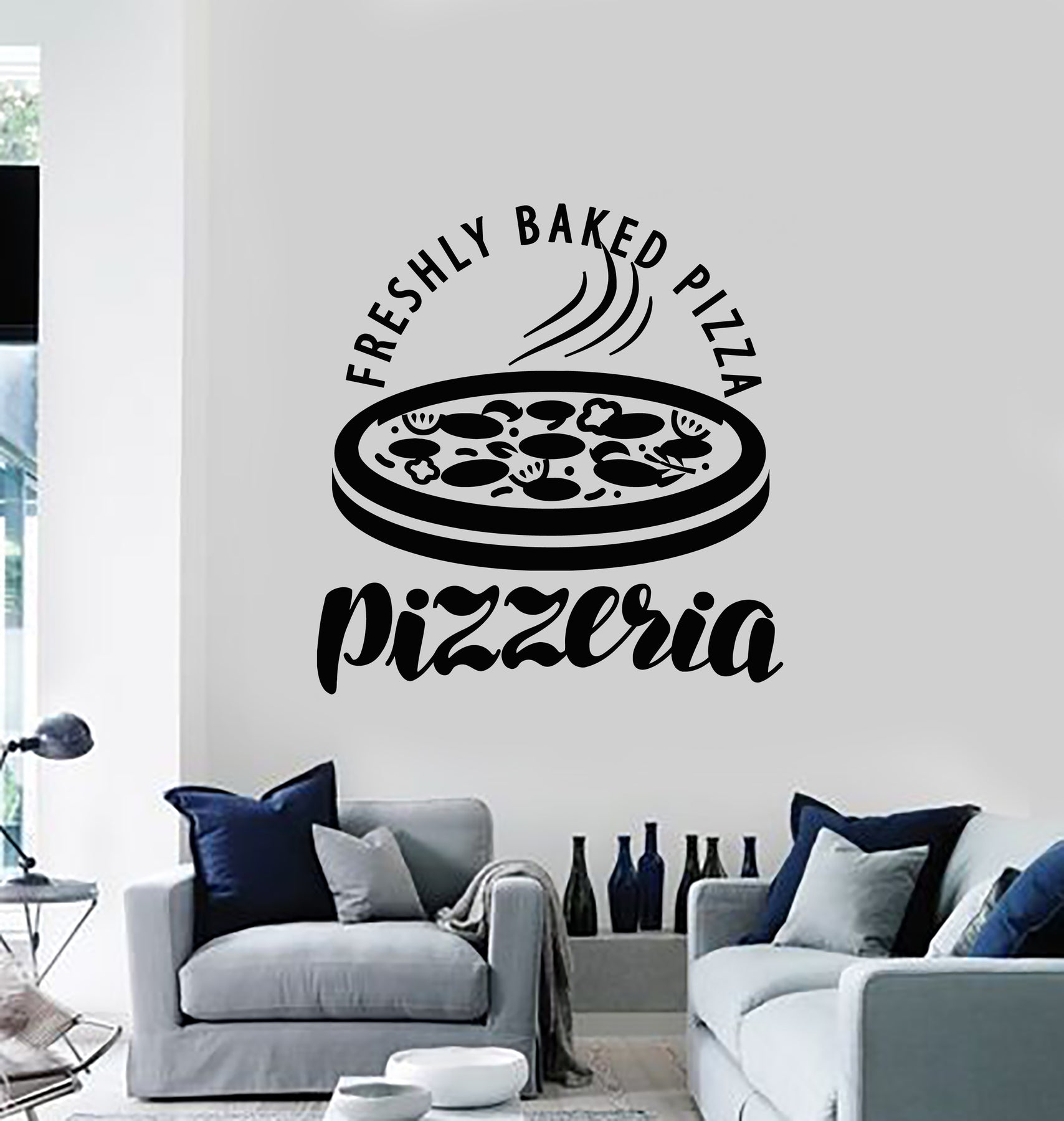 Pizza Quote Vinyl Wall Decal Pizzeria Funny Decor Art Dining Room Stickers Mural 633RE