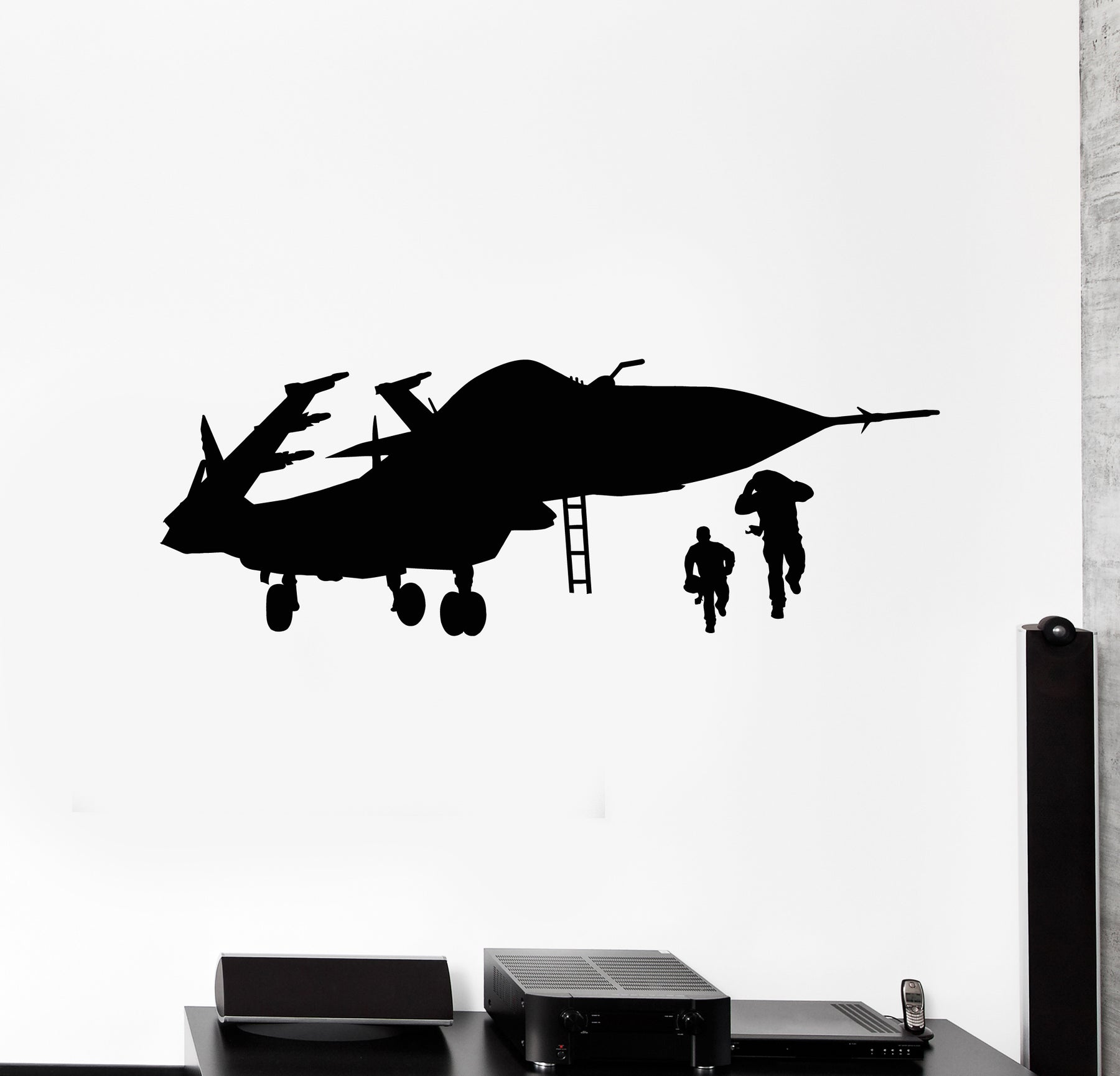 ed2017 Wall Decal Airplane Fighter Military Equipment Vinyl Sticker