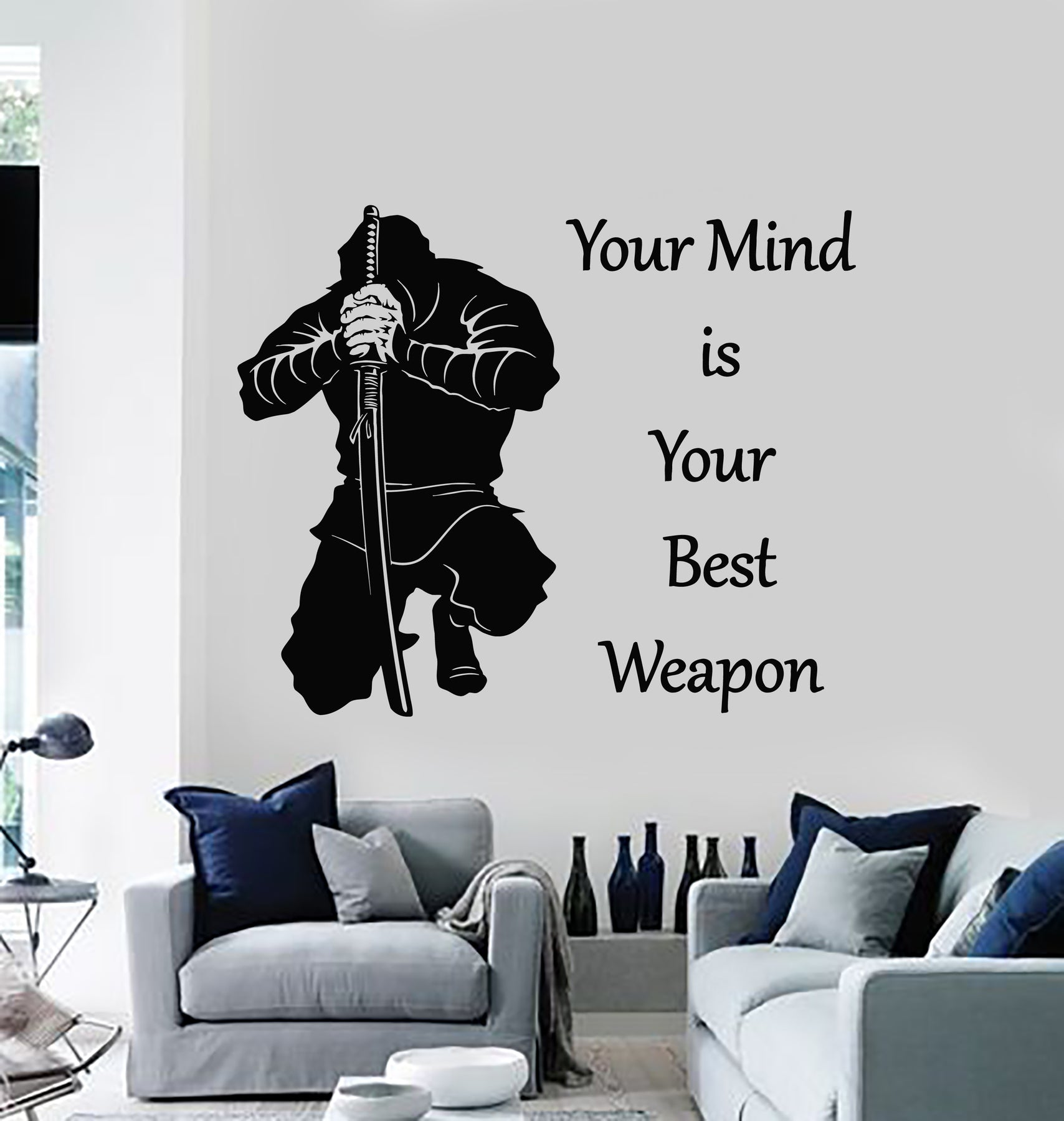 Vinyl Wall Decal Samurai Quote Words Weapon Japanese Warrior Stickers Wallstickers4you